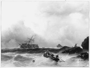 Schipbreuk voor de Franse kust