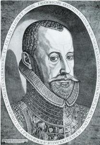 Portret van Frederik II (1534-1588), koning van Denemarken en Noorwegen