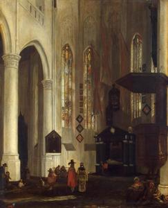 Oude Kerk te Delft met graftombe van Piet Hein