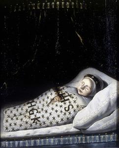Portret van een dood kind