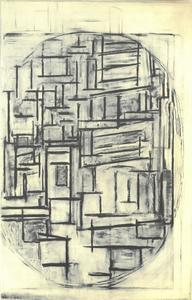 Façade: study for composition in oval with color planes 2