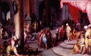Jozef stelt Jacob voor aan farao (Genesis 47:7-8)