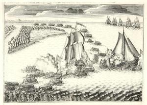 Verovering van twee Zweedse schepen door de Russische vloot bij de monding van de Neva, 7 mei 1703