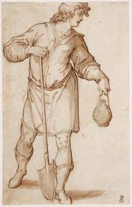 Man met een spade en een fles (Arbeid en Vlijt?)