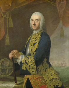 Portret van Hendrik Lijnslager (1693-1768)