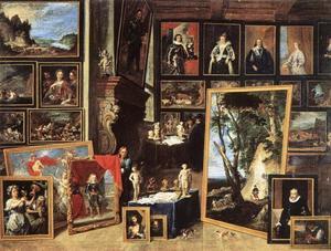 Interieur van het schilderijenkabinet van aartshertog Leopold te Brussel
