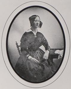 Portret van Simonette Maria Ouckama (1801-1874) of Johanna Elisabeth Enschedé (1818-1858)