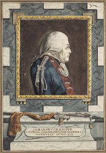 Portret van Joachim Maurits Baron von Kropff (....-1793)