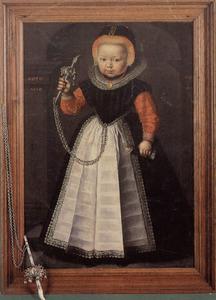 Portret van een meisje met een rinkelbel