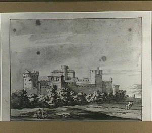 Landschap met Italiaanse fortificatie