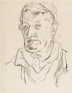 Zelfportret Herbert  Fiedler met Baskische muts