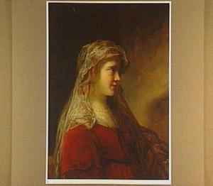 Portret van een jonge vrouw in oud-testamentaire kleding