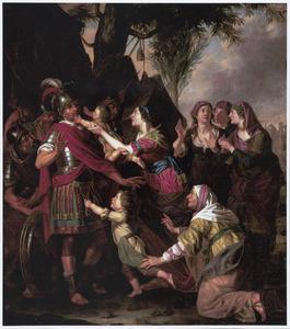 Volumnia en haar zonen voor Coriolanus (Livius 2:40; Plutarchus 12:34-36)