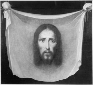 De zweetdoek van Veronica met het portret van Christus
