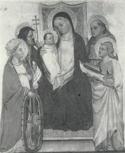 Maria en kind met heiligen