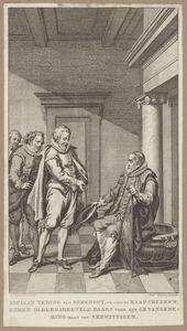 Adriaan Teding van Berkhout (1571-1620) waarschuwt Johan van Oldenbarnevelt (1547-1619) voor gevangenname (1618)