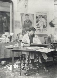 Jan Sluijters in zijn atelier