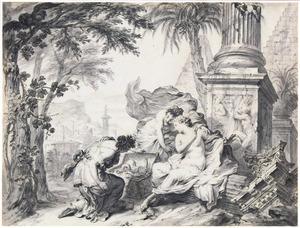 De dochters van Cecrops vinden Erichtonius (Metamorfosen 2:553-563)