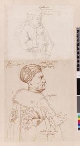 Studie van Willem de Veroveraar en keizer Frederik III