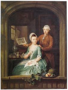 Dubbelportret van Robbert Muys (1742-1825) en Maria Nozeman (1652-?)