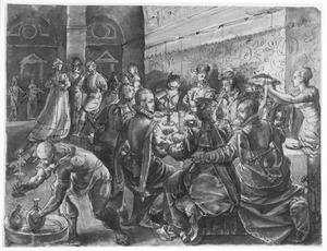 De schoondochters van Tarquinius Superbus brengen de nacht feestvierend door (Ovidius, Fasti, 2, 721-852)