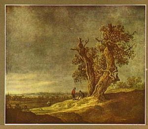 Landschap met twee eiken
