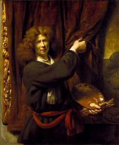 Zelfportret van Cornelis Bisschop (1630-1674)