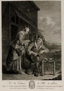 Schoenenlapper en een keukenmeid voor een huis