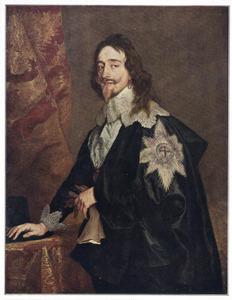 Portret van koning Karel I, met de Orde van de Kousenband