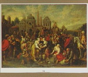 De Israelieten maken zich op om te vertrekken, de Egyptenaren geven de joden hun kostbaarheden  (Exodus 12:35-36)