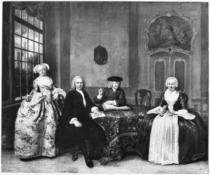 Portret van de familie Van den Broek