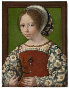 Portret van een meisje (Dorothea van Denemarken?)