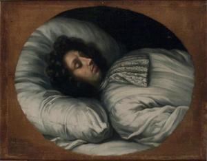 Het sterfbed van koning Karl XI (1655-1697)