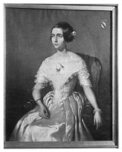 Portret van Christine Louise Penning Nieuwland (1819-1854), echtgenote van Jacob Carel Frederik Baron van Heerdt