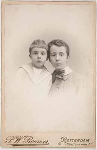 Dubbelportret van Gerard Hendrik Lambert (1888- ) en Gregorius Johannes Lambert