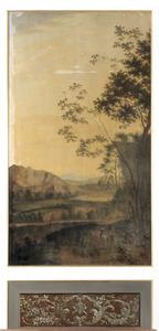 Berglandschap met enkele figuren