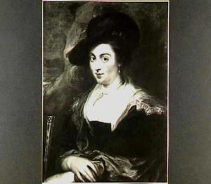 Portret van een vrouw met rote hoed