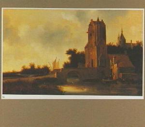 De Utrechtse Pellecussenpoort in een gefantaseerd landschap