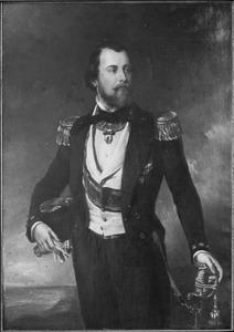 Portret van Koning Willem III in admiraalstenue