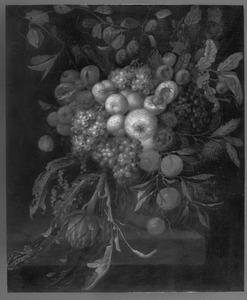 Festoen van vruchten en een artisjok