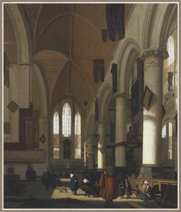Kerkinterieur met elementen van de Oude Kerk te Amsterdam