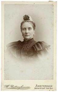 Portret van Johanna Wilhelmina Hodshon (1833-1904)