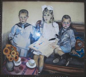 Portret van de kinderen De Looper