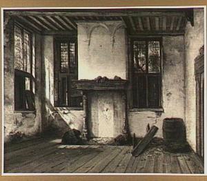 Gezicht in keuken of benedenzaal van het huis Dever te Lisse