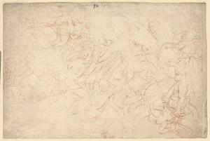 Studie voor de roof van Hippodameia (Ovidius, metamorfosen, XII, 210-335)