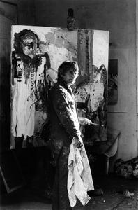 Portret van Kees van Bohemen in zijn atelier