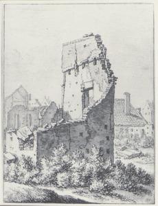 Verwoeste huizen buiten de Catharijnepoort in Utrecht