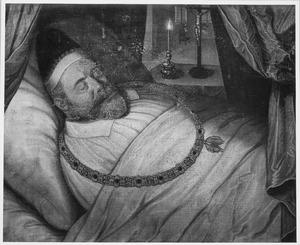Doodsbedportret van Frederik Graaf van den Bergh (1559-1618)