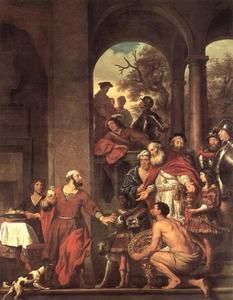 Marcus Curius Dentatus weigert de geschenken der Samnieten