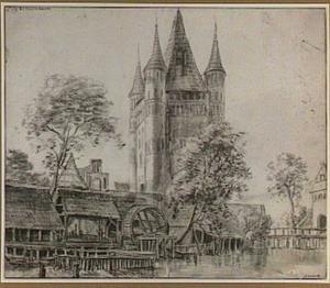 De stadspoort bij de oude brug in Lüneburg